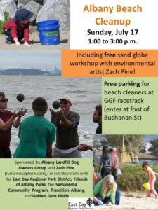 July 17, 2016 beach cleanup flyer